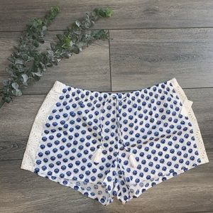 New Blue and White LOVE by Gap Pajama Shorts